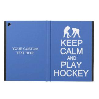Keep Calm & Play Hockey custom color cases
