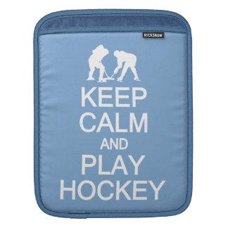 Keep Calm & Play Hockey custom color iPad sleeve