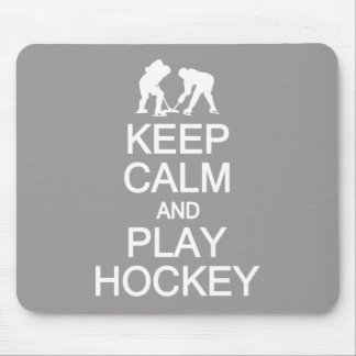 Keep Calm & Play Hockey custom color mousepad