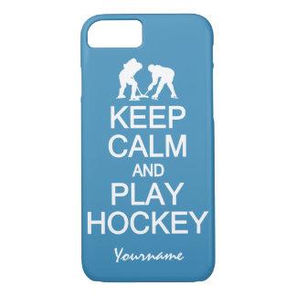 Keep Calm & Play Hockey custom phone cases