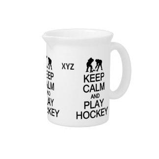 Keep Calm & Play Hockey custom pitcher