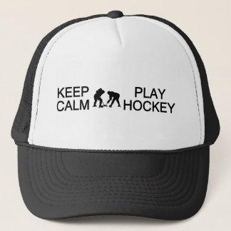Keep Calm & Play Hockey hat - choose color