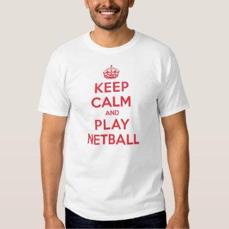 Keep Calm Play Netball Tshirts