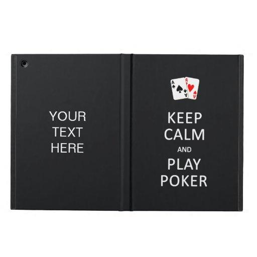 KEEP CALM & PLAY POKER custom cases iPad Air Cases