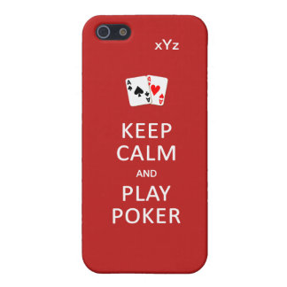 KEEP CALM & PLAY POKER custom cases iPhone 5 Cases