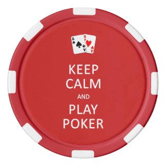 KEEP CALM & PLAY POKER custom chips Poker Chips