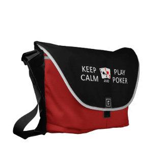 KEEP CALM & PLAY POKER custom messenger bag
