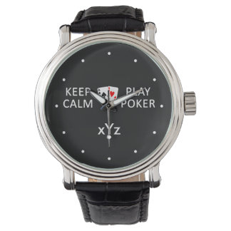 KEEP CALM & PLAY POKER custom watches