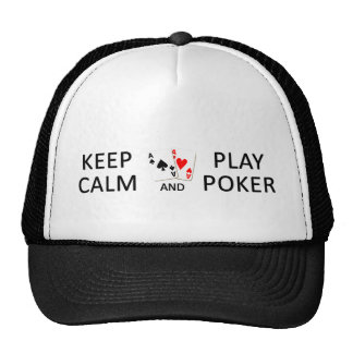 KEEP CALM & PLAY POKER hat - choose color