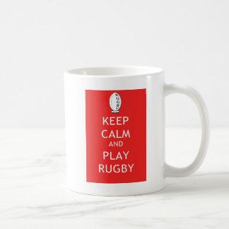 Keep Calm & Play Rugby Basic White Mug