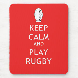 Keep Calm & Play Rugby Mouse Pad