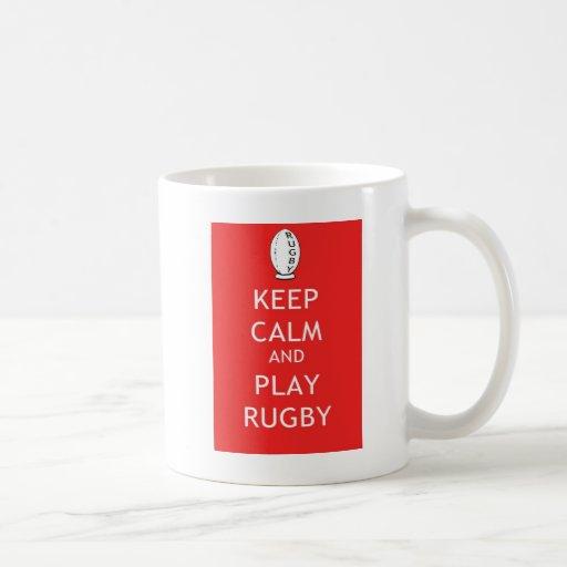 Keep Calm & Play Rugby Mug