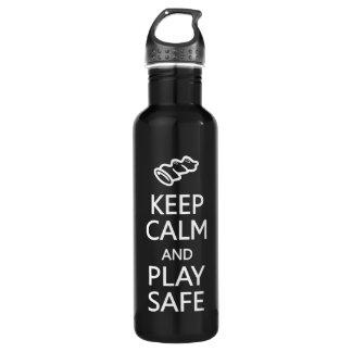 Keep Calm & Play Safe 710 Ml Water Bottle