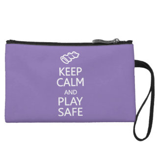 Keep Calm & Play Safe custom accessory bags