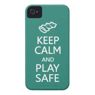 Keep Calm & Play Safe custom color Blackberry case