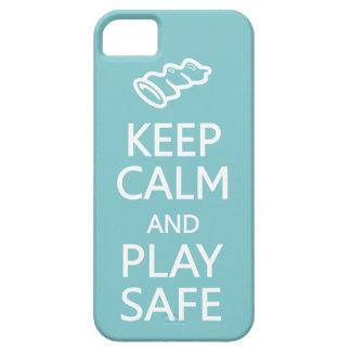 Keep Calm & Play Safe custom color iPhone case