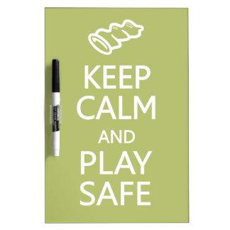 Keep Calm & Play Safe custom color message board