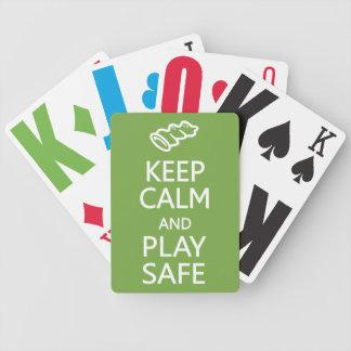 Keep Calm & Play Safe custom playing cards