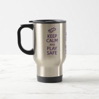 Keep Calm & Play Safe mug - choose style, color