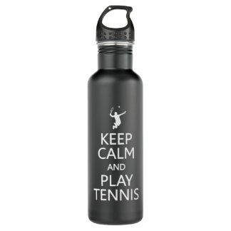 Keep Calm & Play Tennis custom 710 Ml Water Bottle