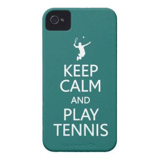 Keep Calm & Play Tennis custom Blackberry case