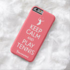 Keep Calm & Play Tennis custom color cases