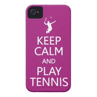 Keep Calm & Play Tennis custom color iPhone case