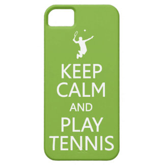 Keep Calm & Play Tennis custom color iPhone case
