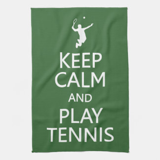 Keep Calm & Play Tennis custom color kitchen towel