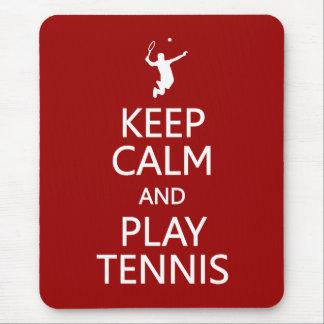 Keep Calm Play Tennis custom color mousepad