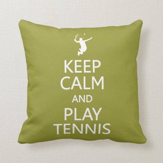 Keep Calm & Play Tennis custom color pillow