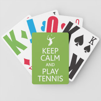 Keep Calm & Play Tennis custom color playing cards