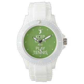 Keep Calm & Play Tennis custom watches