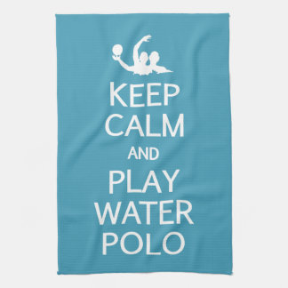 Keep Calm & Play Water Polo custom color towel