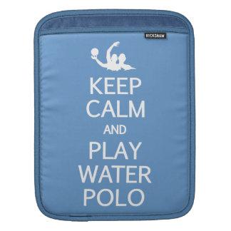 Keep Calm & Play Water Polo custom iPad sleeve