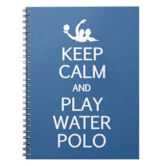 Keep Calm & Play Water Polo custom notebook