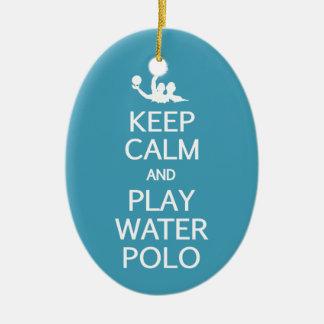 Keep Calm & Play Water Polo custom ornament