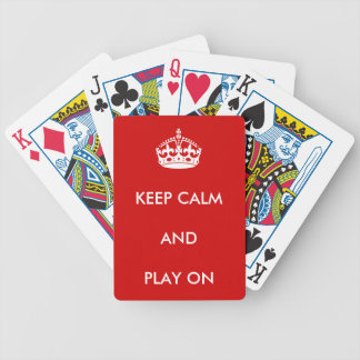 Keep Calm Playing Cards