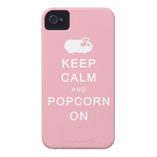 Keep Calm & Popcorn On iPhone 4 Case-Mate Case