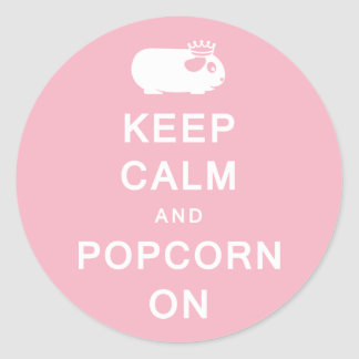 Keep Calm & Popcorn On Stickers
