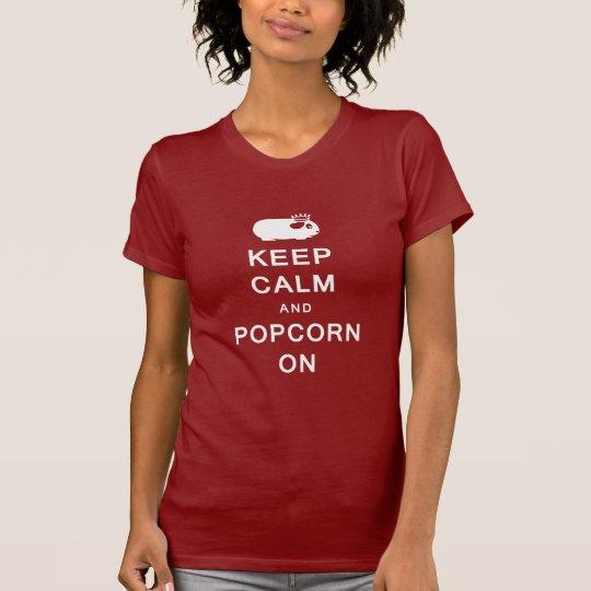 Keep Calm & Popcorn On Women's T-Shirt