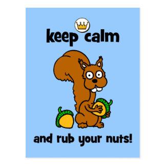 keep calm post card