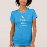 Keep Calm & Price Carbon Ladies T Shirt (Blue)