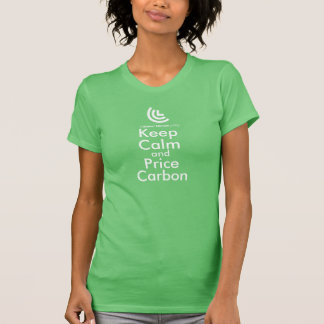 Keep Calm & Price Carbon Ladies T-Shirt (Green)