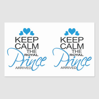Keep Calm Prince George Arrived Rectangular Stickers