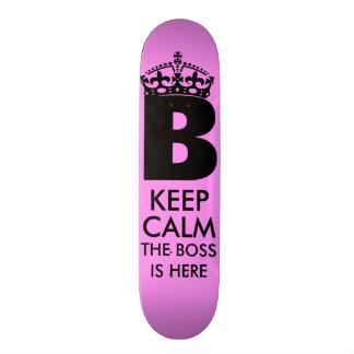 Keep Calm Queen B is Here 21.6 Cm Old School Skateboard Deck