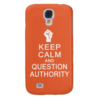 Keep Calm & Question Authority custom cases