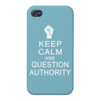 Keep Calm & Question Authority custom cases iPhone 4 Cover