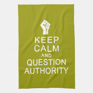 Keep Calm & Question Authority hand towel