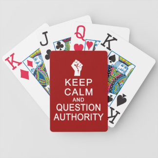 Keep Calm & Question Authority playing cards